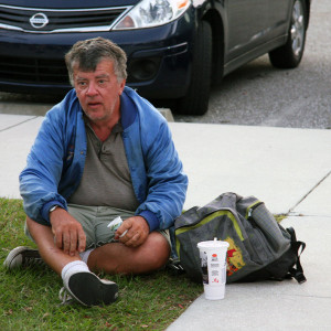 Homeless man in need of permanent supportive housing arranged by the Florida Coalition for the Homeless